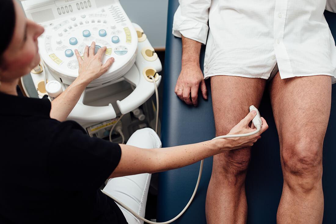 Gefäßmedizin München Süd - Krampfadern - Ultraschalluntersuchung